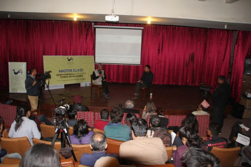 MASTER CLASS WITH GIRISH KASRAVALI IN TALK WITH TSERING RHITAR SHERPA